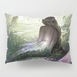 Little mermaid - Lonley siren watching kissing couple Pillow Sham