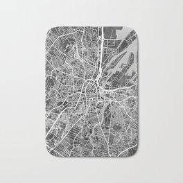 Belfast Northern Ireland City Map Bath Mat