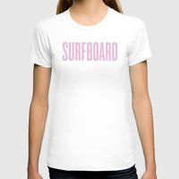 surfboard T-shirts featuring Surfboard by Marianna