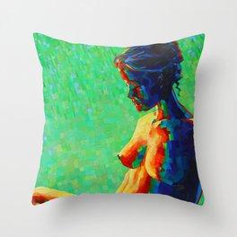 Cubistic woman (2011) Throw Pillow