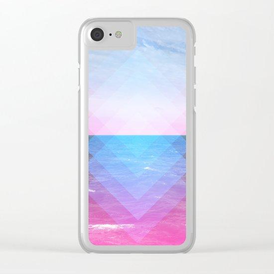 Sea Diamonds Clear iPhone Case