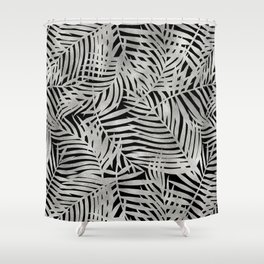 Tropical Moondust Leaves Shower Curtain