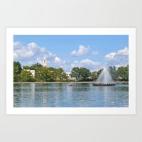 Day on the Lake Art Print