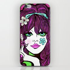 Psychedelic Flower Child iPhone Skin