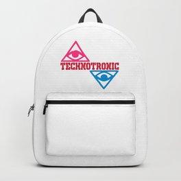 Techno rave music logo Backpack