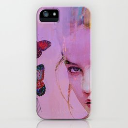 Isabelle and butterflies fork iPhone Case
