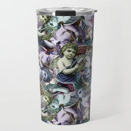 Renaissance Cherub Toss in Jewel Tones Travel Mug