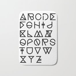 "Print ""Geometrical ABC"" Bath Mat"