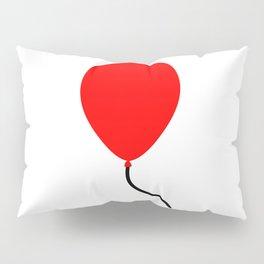 Red Balloon Emoji Pillow Sham