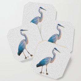 Blue Heron Silhouette Coaster