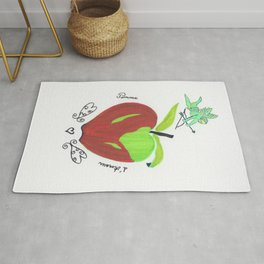 Apple of love ( pomme d'amour) Rug