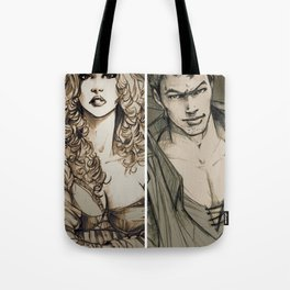 Lancelot and Guinevere Tote Bag