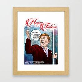 Festivus Holiday Card Framed Art Print