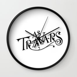 As Travars - To Travel (black) Wall Clock
