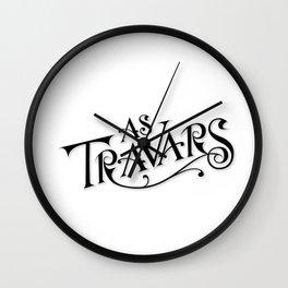 As Travars - To Travel (black) Wall Clock