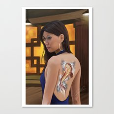 koi girl Canvas Print