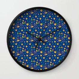 Summer Chill Pattern Wall Clock