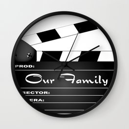 Our Family Clapperboard Wall Clock