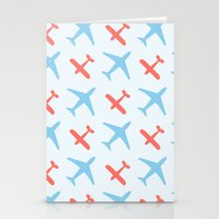airplanes Stationery Cards featuring Airplanes by Daily Design