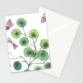 a touch of summer fragrance - white background Stationery Cards