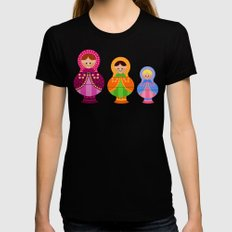 Matrioskas 2 (Russian dolls 2) MEDIUM Black Womens Fitted Tee