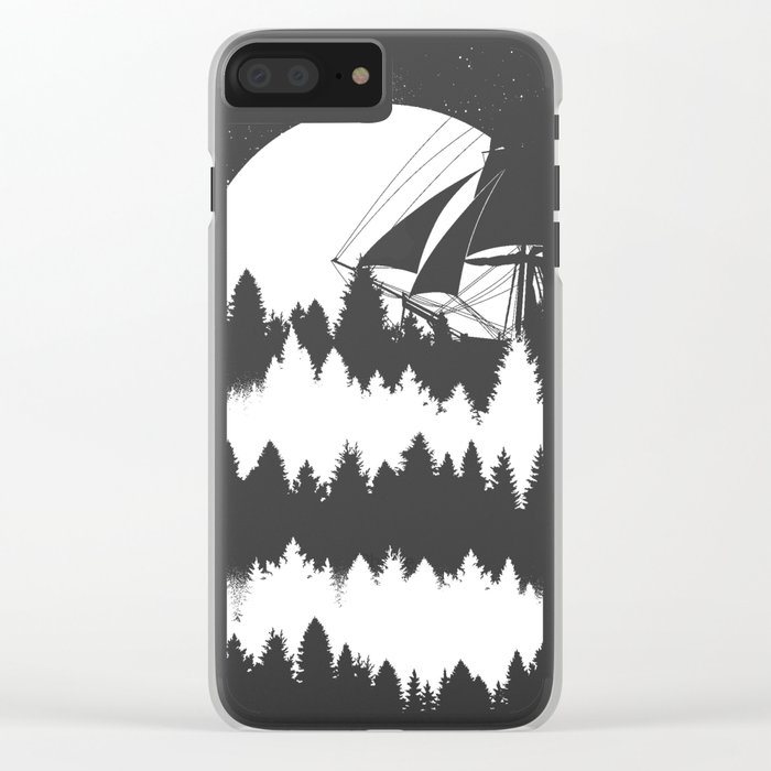 Forest Wave Clear iPhone Case