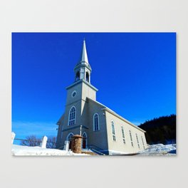 Coastal Curch in Tourelle Canvas Print