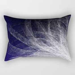 Cyan Texture Feathers Rectangular Pillow