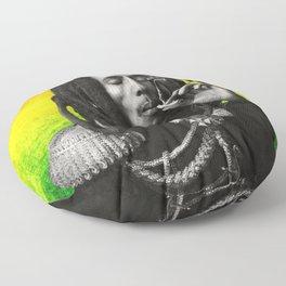 marley bob general portrait painting | Up In Smoke Fan Art Floor Pillow