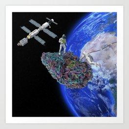 Space Weed Art Print