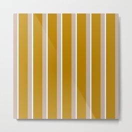 Mustard yellow Nude stripes Metal Print