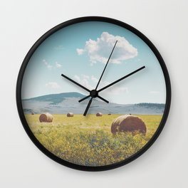 A Day in the Fields Wall Clock