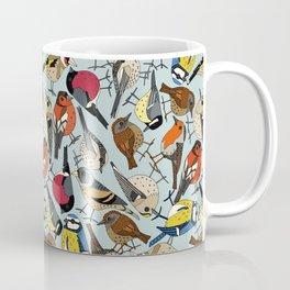winter garden birds celadon blue Coffee Mug
