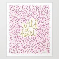 Wild at Heart – Pink & Gold Art Print