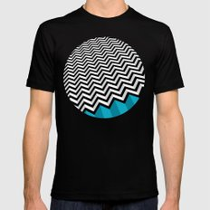 ZIGZAG Black MEDIUM Mens Fitted Tee