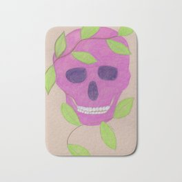 pink skull Bath Mat