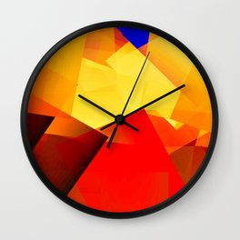 Heat over city ... Wall Clock