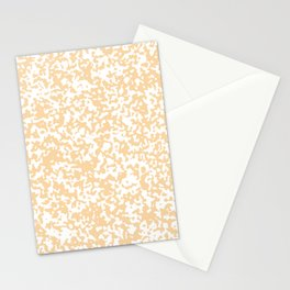 Small Spots - White and Sunset Orange Stationery Cards