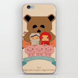 3 little pigs iPhone Skin