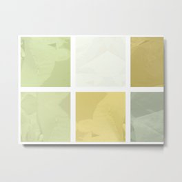 Pale Yellow Poinsettia 1 Abstract Rectangles 1 Metal Print