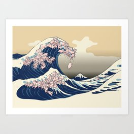 The Great Wave of Pigs Art Print