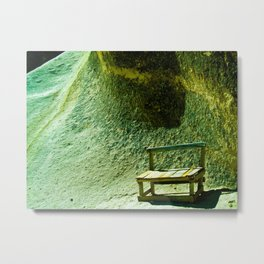wooden chair in mountain Metal Print