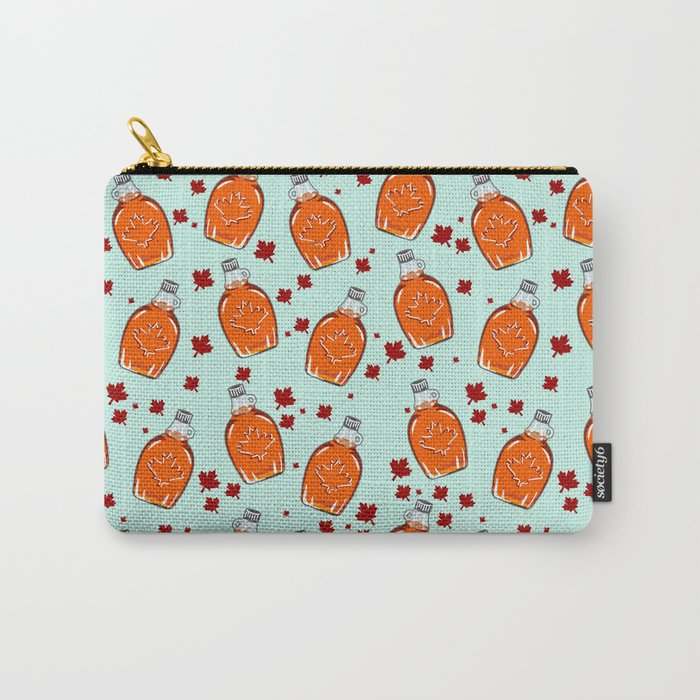 Super Canadian Maple Syrup Pattern Carry-All Pouch