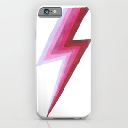 Lightning Bolts - Berry iPhone Case