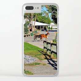 Exhibition Grounds, Rhinebeck, New York Clear iPhone Case