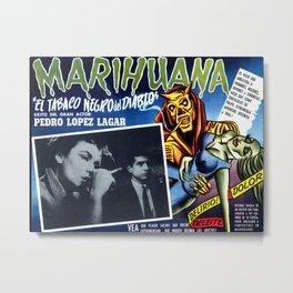 1930s anti marijuana propaganda film poster Metal Print