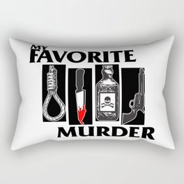 MY FAVORITE MURDER X BLACK FLAG Rectangular Pillow