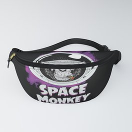 Space Monkey Retro Black Fanny Pack