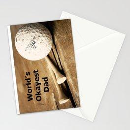 World's Okayest Dad Stationery Cards