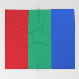 Flag of planet Mars Throw Blanket